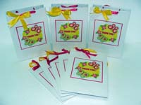 Pink and yellow Gift bags - Butterfly Birthday