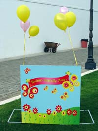 Butterfly / Garden welcome banner - Butterfly Birthday