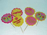 Cup cake toppers - Butterfly Theme Birthday Party Decoration Supplies