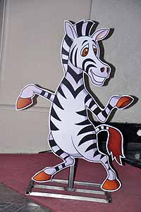 Jungle Birthday Supplies theme Zebra poster