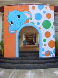 Circus Elephant theme Entrance