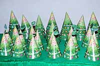 Dark green Jungle Fairy hats