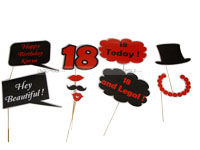 18th Birthday theme Photo Booth Props