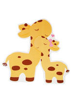 Baby Zoo birthday theme Yellow baby and mummy Giraffe