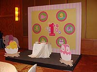 Baby Zoo theme No 1 birthday banner