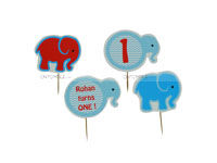 Cup cake toppers - Baby Elephant Party Supplies