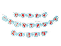 Baby Elephant theme Happy Birthday Banners