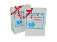 Stickered gift bags - Baby Elephant Party Supplies