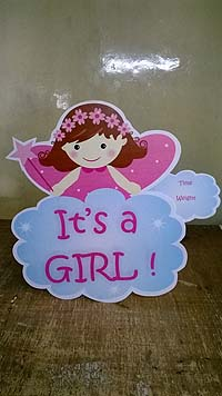 Pink & Blue  theme Its a girl wall decoration