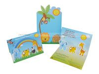 Baby Jungle theme Custom invitations