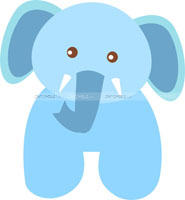 Baby Jungle theme Baby Elephant poster