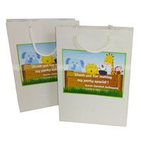 Baby Jungle theme Stickered gift bags