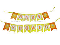 Sunshine BabyShower theme Happy Birthday Bunting