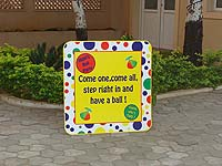 Ball theme Welcome banner