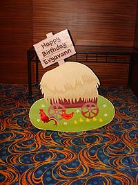 Barnyard birthday theme Barnyard welcome board