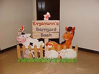 Barnyard birthday theme Barnyard entrance fence