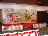 Barnyard theme Stage Decor