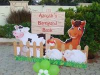 Barnyard birthday theme Barnyard entrance banner