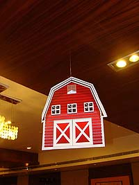 Barnyard theme Red Barn house