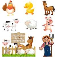 Barnyard Birthday theme Kit of Barnyard wall cutouts