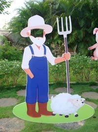 Barnyard birthday theme Farmer photobooth