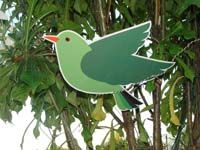 Barnyard birthday theme Green bird cutout