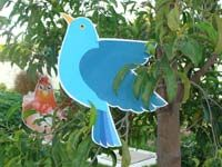 Blue bird cutout