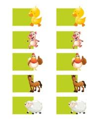 Barnyard theme  - Barnyard animal shaped wish tree tags (Pack of 10)