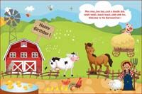Backdrop - Barnyard Birthday
