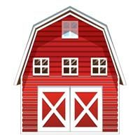 Barnyard Birthday theme Barn cutout