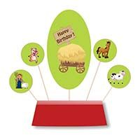 Barnyard Birthday theme Skewer based centerpiece