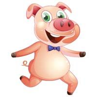 Pig cutout - Barnyard Birthday
