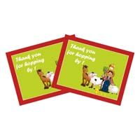Barnyard Birthday theme Thank you card with animals