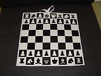 Black & White theme Chess board poster