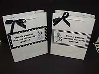 Black & White theme Stickered gift bags