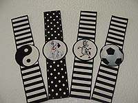 Wristbands - Black & White party supplies