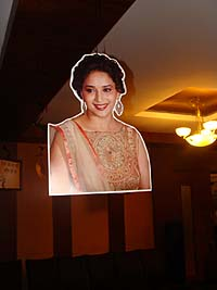 Retro Birthday theme Madhuri cutout poster