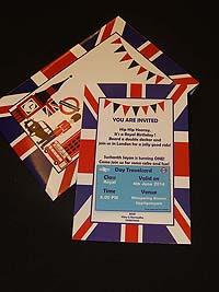 British theme Custom invitations