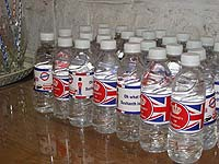British theme Water bottle wrappers