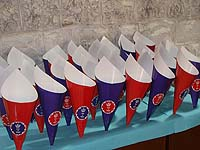 Popcorn Cones - British Theme Birthday Party