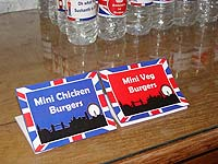 British theme Food labels