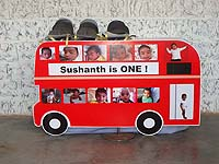 British theme Bus printed Photo Collage