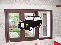 British theme London cab cutout