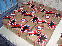Favour boxes - British Theme Birthday Party
