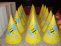 Bumble Bee birthday theme Hats