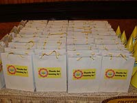 Stickered gift bags - Bumble Bee theme birthday party supplies