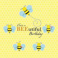Bumble Bee Theme BEEutiful Birthday Banner