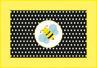 Large bumblebee on rectangular table cover