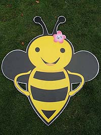 Bumble Bee theme Smiling bee