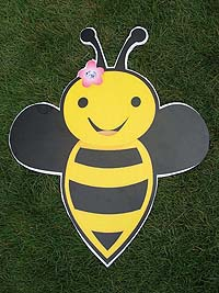 Bumble Bee theme Flying bee poster